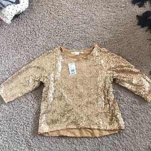 Tops - Gliks Gold Sequence Top